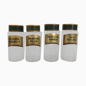 Antique Apothecary Bottles, Set of 4