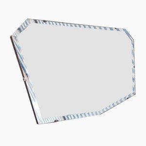 Espejo de pared biselado, años 40