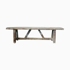 Antique Rustic Farmhouse Bench