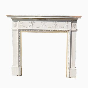Antique Painted Gesso Fireplace Mantel