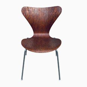 Sedia da pranzo nr. 3107 Mid-Century di Arne Jacobsen per Fritz Hansen