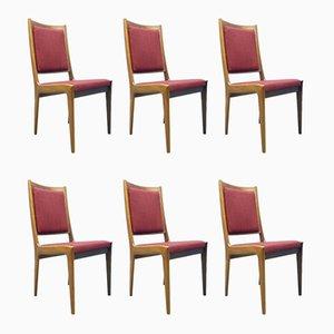 Esszimmerstühle mit Gestell aus Palisander von Karl-Erik Ekselius für JOC Vetlanda, 1960er, 6er Set