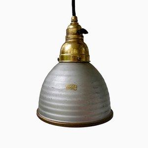 Kleine industrielle Vintage Deckenlampe mit Spiegelglas von Zeiss Ikon, 1930er