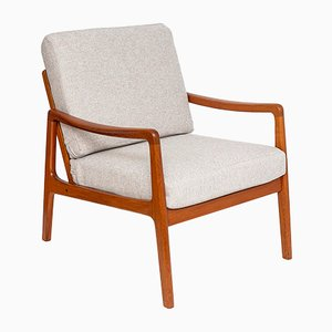 FD109 Teak Lounge Chair by Ole Wanscher for France & Søn, 1960s