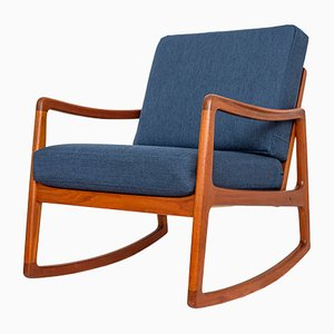FD120 Teak Rocking Chair by Ole Wanscher for France & Søn, 1960s