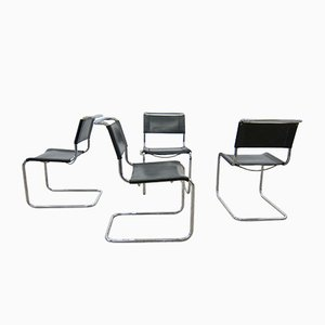 Bauhaus S33 Dining Chairs by Mart Stam & Marcel Breuer for Thonet, 1980s, Set of 4