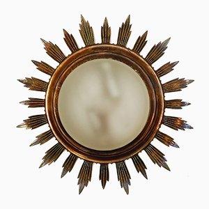 Lampada da soffitto vintage in ottone, anni '50