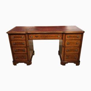 Antiker viktorianischer Schreibtisch aus Nusswurzelholz, Veilchenholz & Amboyna