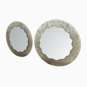 Mirrors by Ugo La Pietra for Glasmäster, 1980s, Set of 2