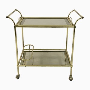 Vintage Italian Brass Drinks Trolley, 1970s