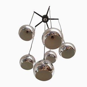Lámpara de techo vintage de metal cromado