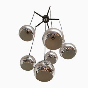 Vintage Deckenlampe aus Chrom
