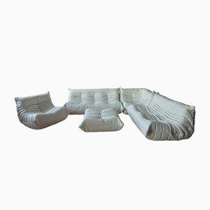 Leather Togo Living Room Set by Michel Ducaroy for Ligne Roset, 1990s