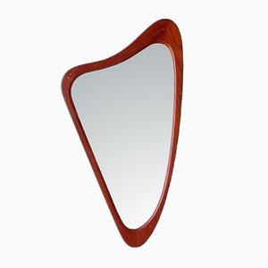 Dänischer Vintage Spiegel mit Rahmen aus Teak, 1960er