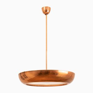 Vintage Copper Pendant Lamp by Josef Hurka for Napako, 1940s