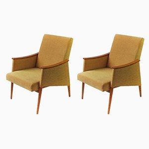 Senfgelbe Vintage Sessel, 1960er, 2er Set