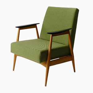 Vintage Greem Lounge Armchair, 1960s