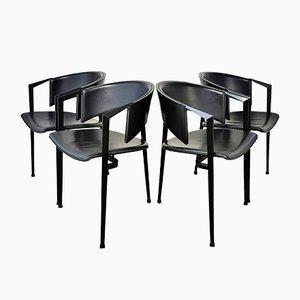 Postmoderne niederländische Esszimmerstühle von Castelijn, 1980er, 4er Set