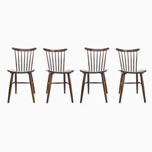 Chaises de Salon Scandinaves, années 60, Set de 4