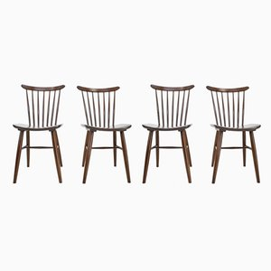 Scandinavian Style Dining Chairs, 1960s, Set of 4