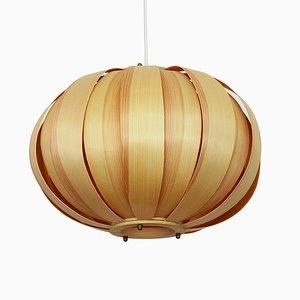 Vintage Danish Pine Veneer Pendant Lamp from Panduro, 1960s