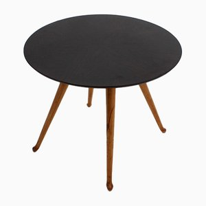 Table Basse Ronde Vintage en Palissandre par Osvaldo Borsani pour Atelier Borsani Varedo, années 40