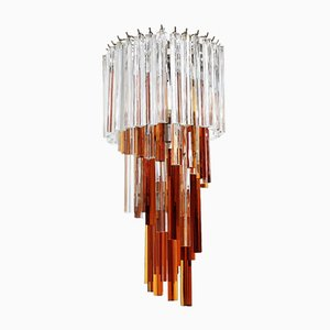 Vintage Trilobi Glass Chandelier from Venini, 1970s