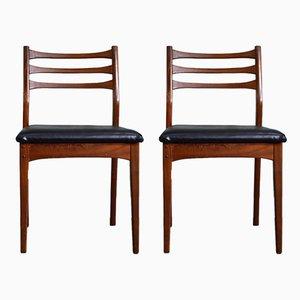 Chaises de Salon Vintage en Teck de Meredew, années 60, Set de 2