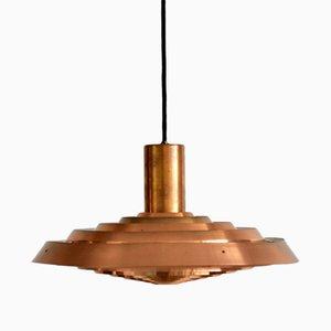 Lámpara colgante PH danesa vintage de cobre de Poul Henningsen para Louis Poulsen, años 60