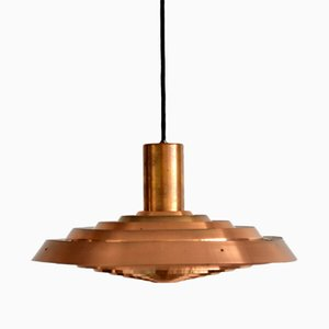 Vintage Danish PH Copper Pendant Lamp by Poul Henningsen for Louis Poulsen, 1960s