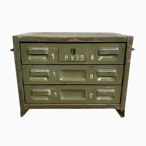 Vintage Iron Military Chest of Drawers, 1960s