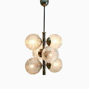 Deutsche Swirl Ball Deckenlampe von Fischer Leuchten, 1957