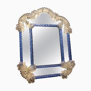 Portarretratos estilo barroco de cristal de Murano, años 50