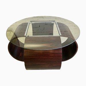 Mesa de centro de palisandro, años 60