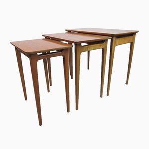 German Coffee Tables from lotos, 1960s, Set of 3