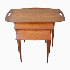 Tavolini ad incastro di Jens Quistgaard per IHQ, anni '50