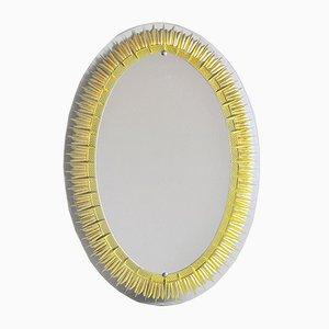 Specchio ovale di Cristal Art, anni '50