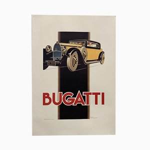 Bugatti Poster by Rene Vincent for Bedos Paris, 1960s