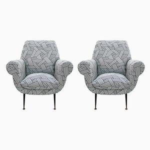 Mid-Century Lounge Chairs by Gigi Radice for Minotti, Set of 2