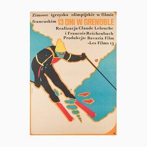 Polnisches Grenoble Filmposter von Marek Mojinski, 1968