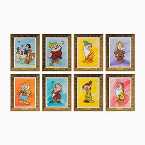 Snow White and the Seven Dwarfs Film Posters, 1970s, Set of 8