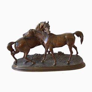 Antike Pferdeskulptur von P.J. Mene