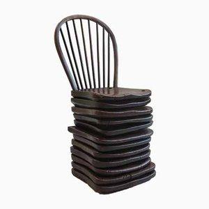 Vintage Beistellstuhl aus Ulmen- & Eschenholz