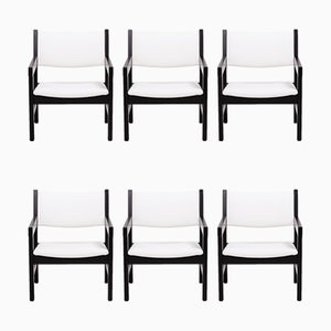 GE 151 Dining Chairs by Hans J. Wegner for Getama, 1970s, Set of 6