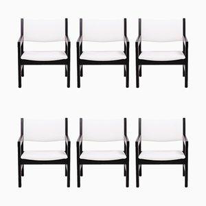 GE 151 Esszimmerstühle von Hans J. Wegner für Getama, 1970er, 6er Set