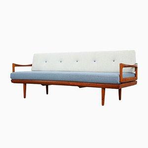 Sofá cama noruego de Tove & Edvard Kindt-Larsen para Gustav Bahus, años 60