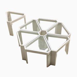 Vintage Italian Modular Side Table Set from Porada Arredi, 1970s