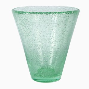 Art Deco Green Bubble Vase by daum for Daum, 1930s