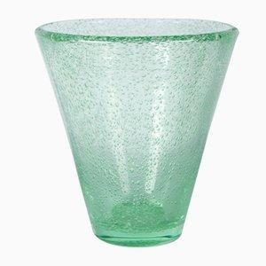 Vase Bubble Vert Art Déco par Daum pour Daum, années 30