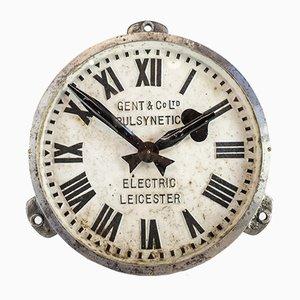 Orologio da fabbrica in ferro di Gents of Leicester, anni '30